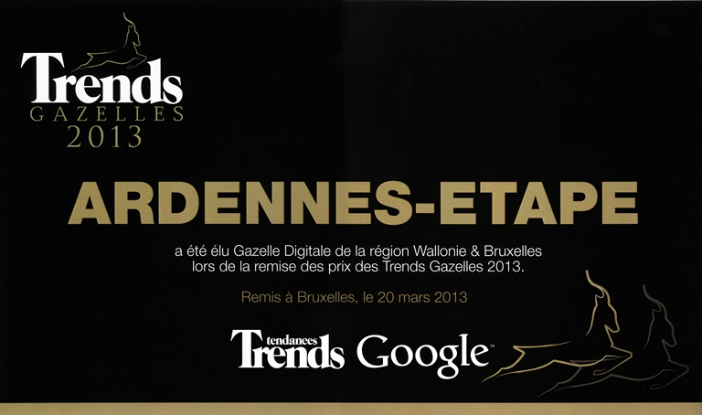 Ardennes-Etape reçoit la Gazelle Digitale